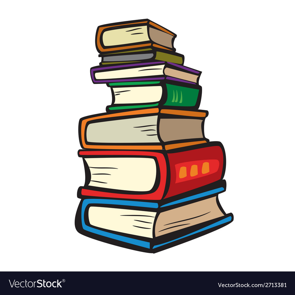 Stack of Multi Colored Books Royalty Free Vector Image