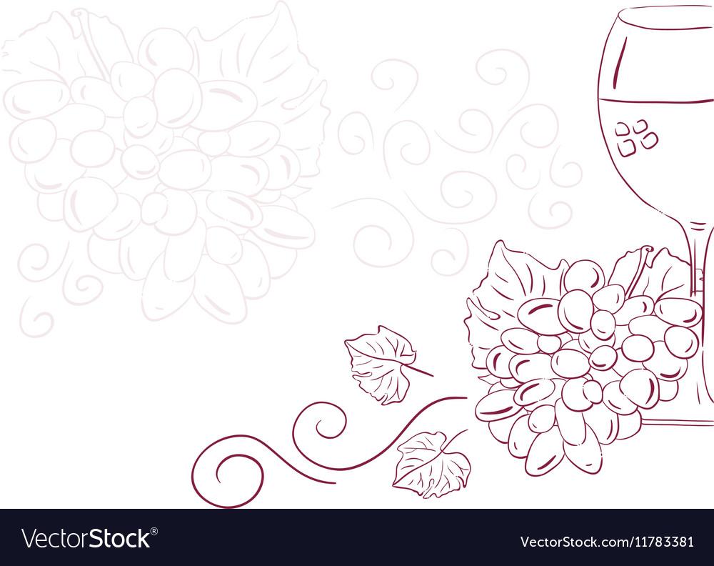 Wine with grape