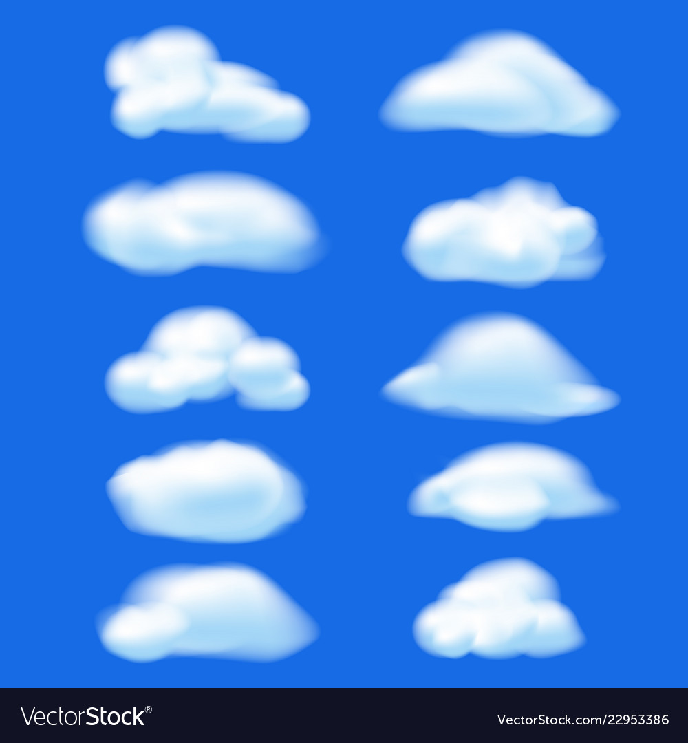 Abstract cloud on blue sky background nature