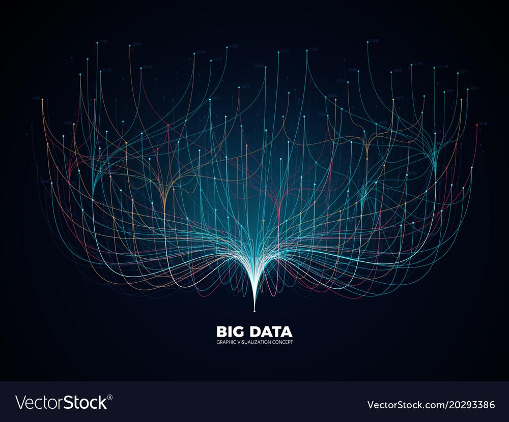 Big data network visualization concept digital
