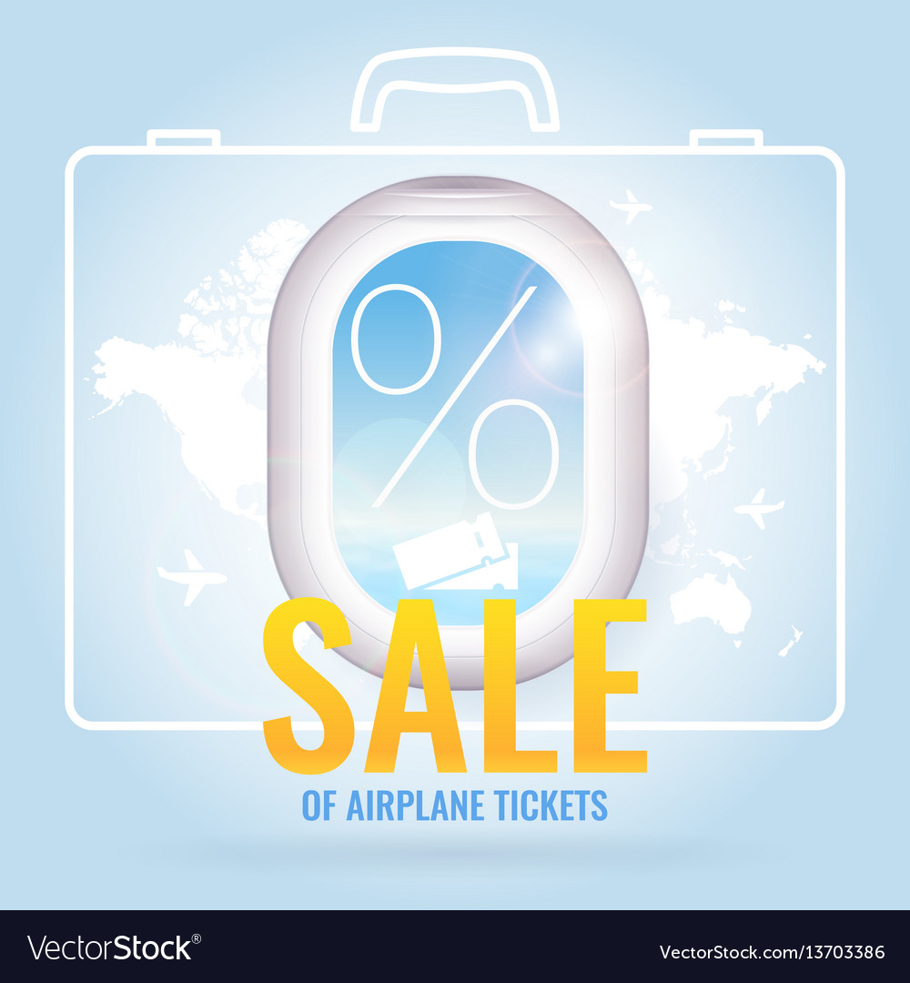 Conceptual poster sales and discounts of airplane