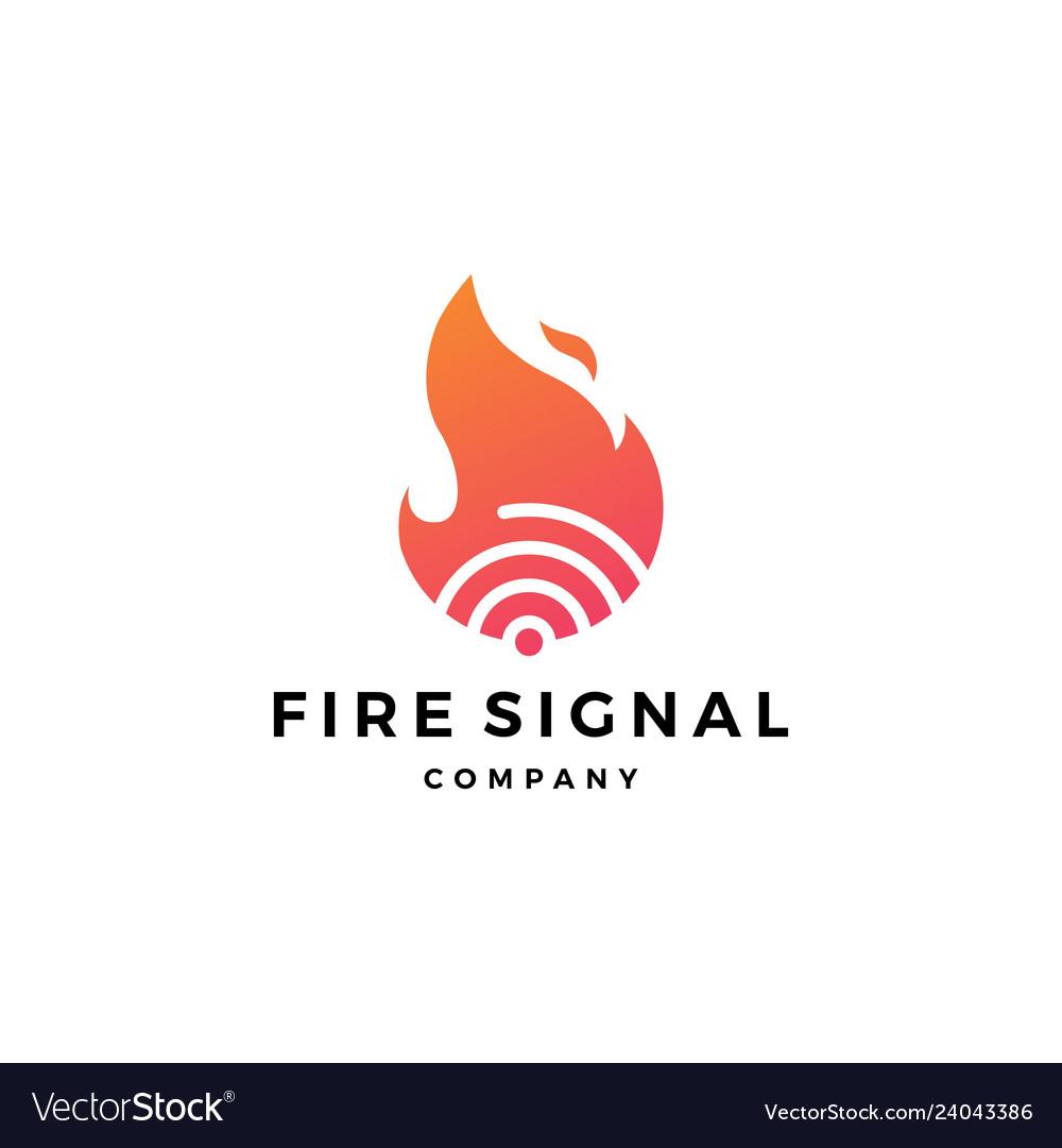 Fire flame signal logo icon