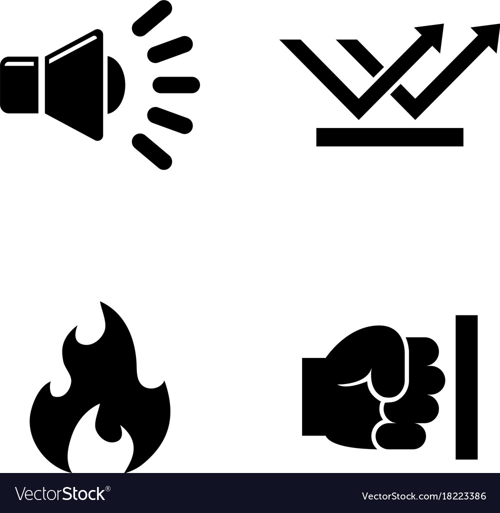 Influence noise simple related icons vector image