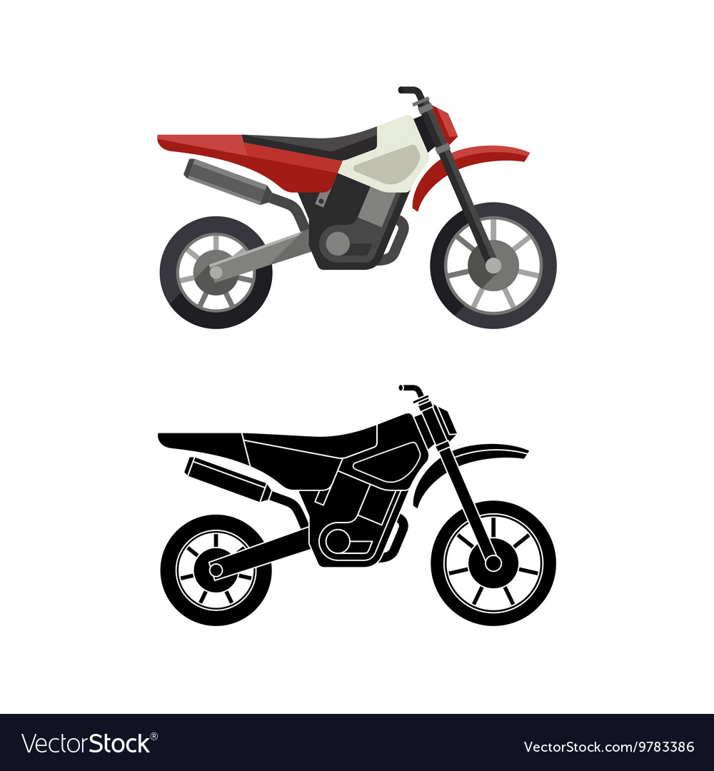 Motorcycles flat icons