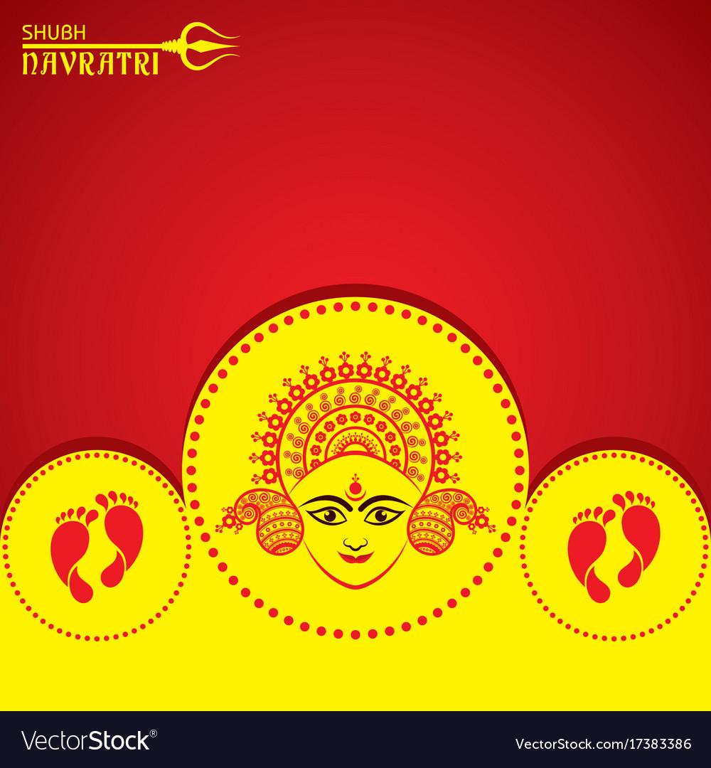 Navratri utsav greeting card royalty free vector image navratri utsav greeting card vector image m4hsunfo