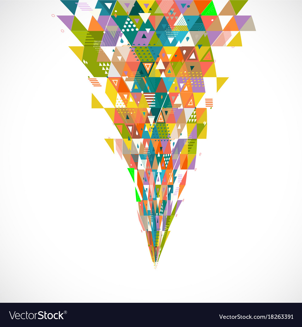 Abstract creative mix geometrical with flow shape vector image