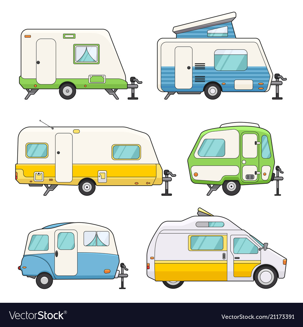 Camping trailers set