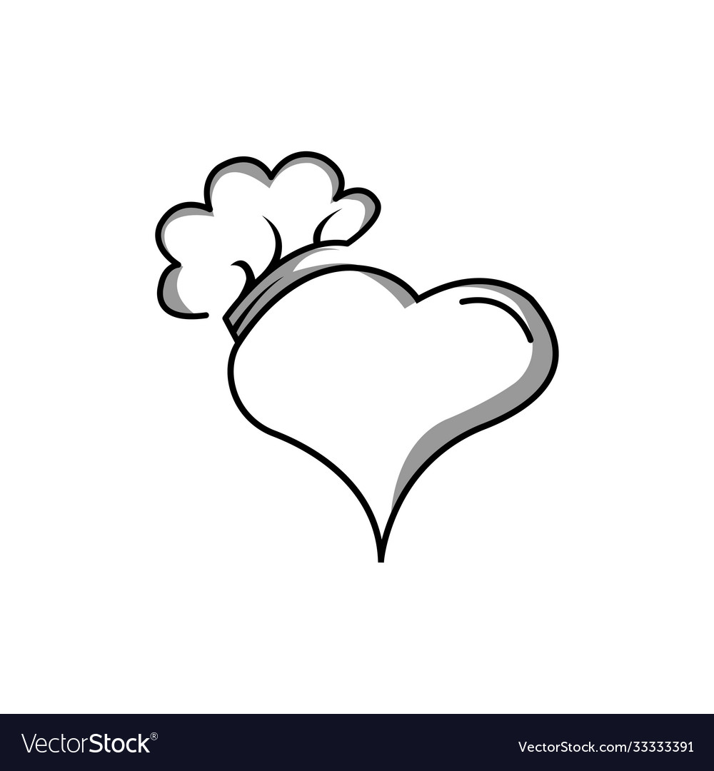 Chef Logo Love Clipart Design Royalty Free Vector Image