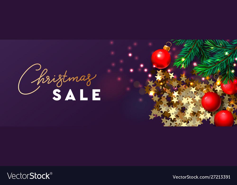 Christmas sale banner xmas festive decoration