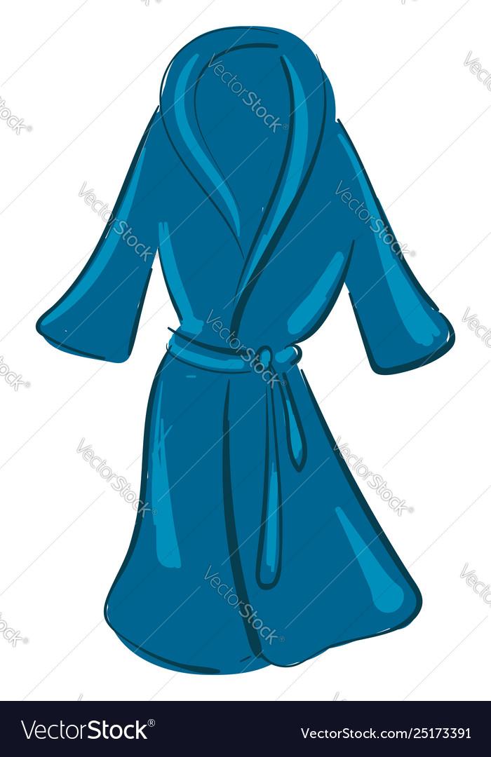 Clipart A Showcase Blue Colored Bathrobe Over Vector Image