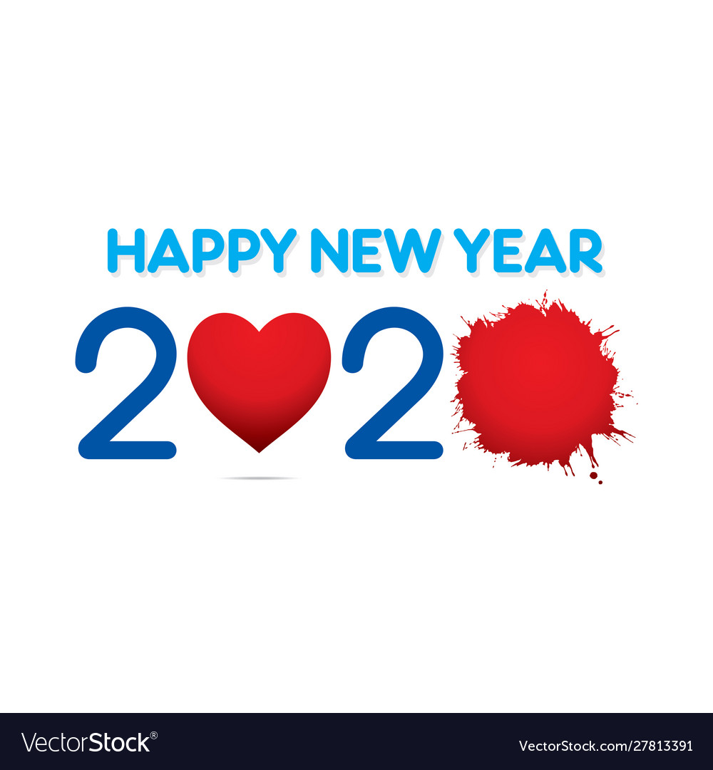 Creative New Year 2020 Greeting Card Design