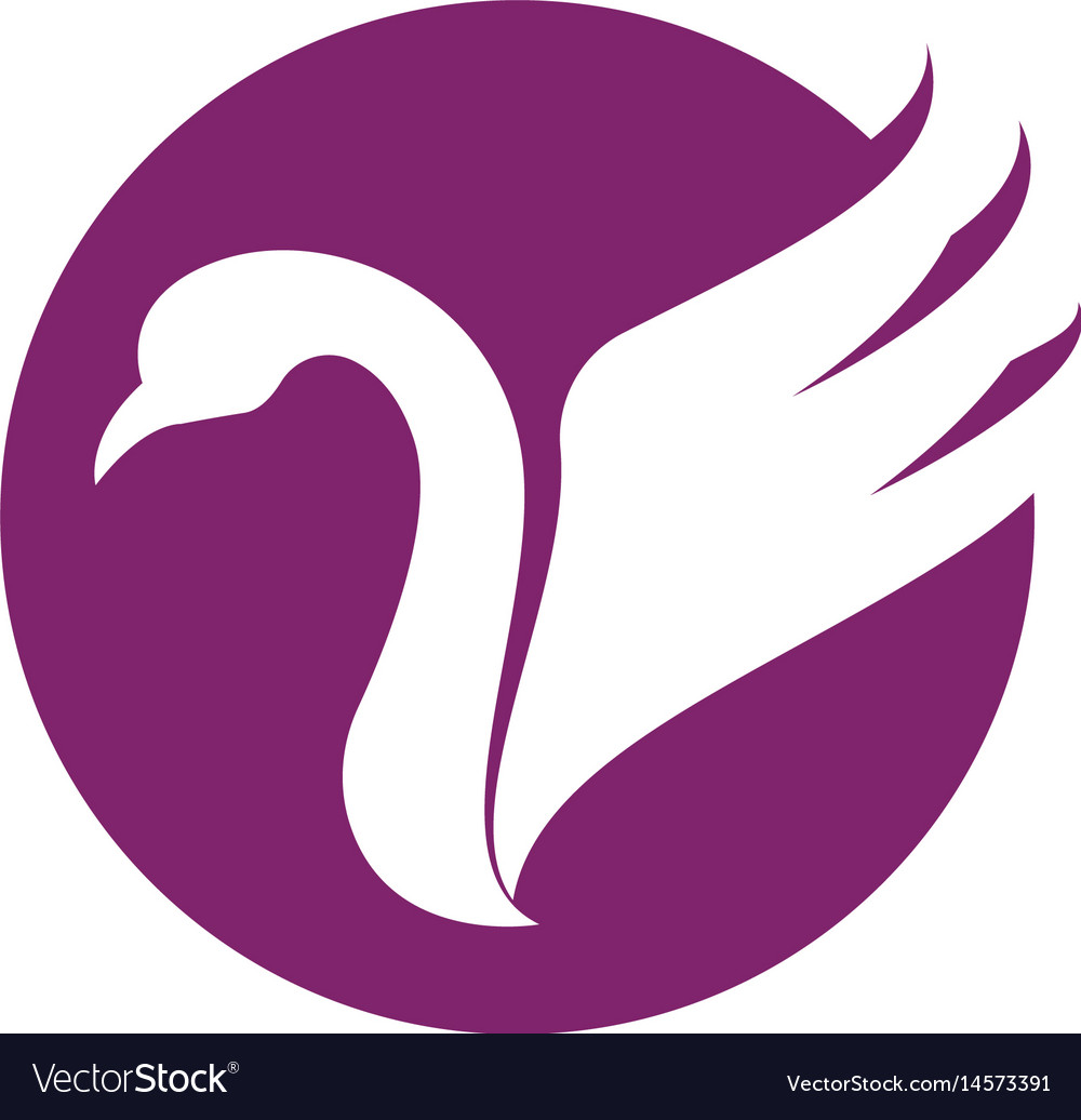 Goose logo template isolated sign sym