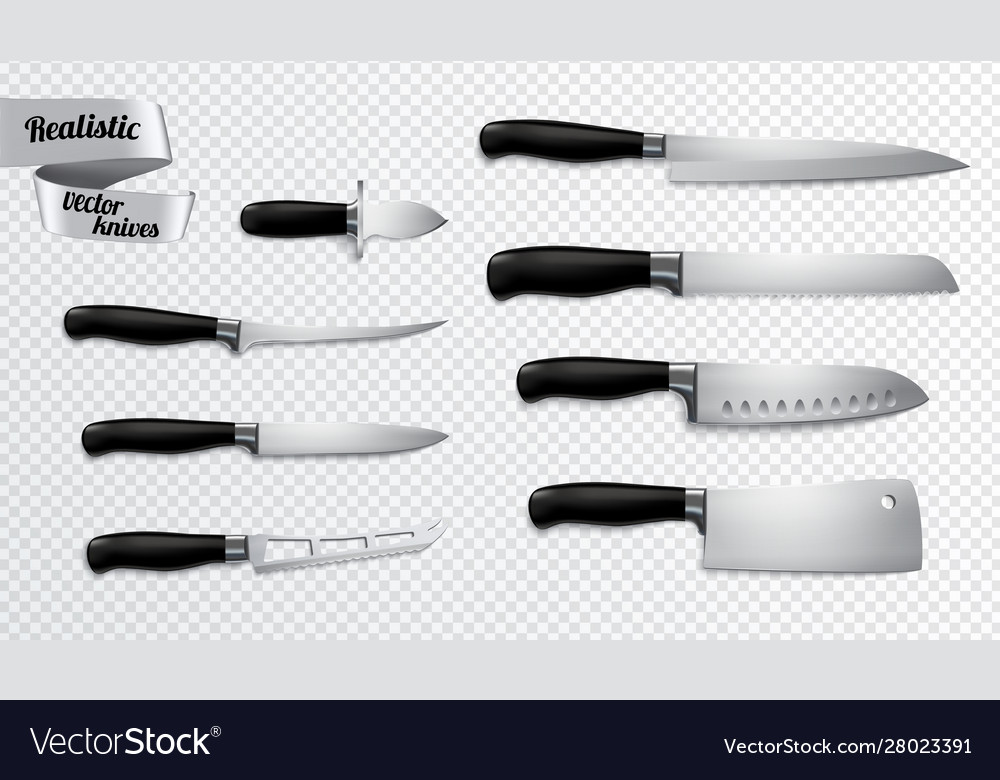 Knives realistic transparent background