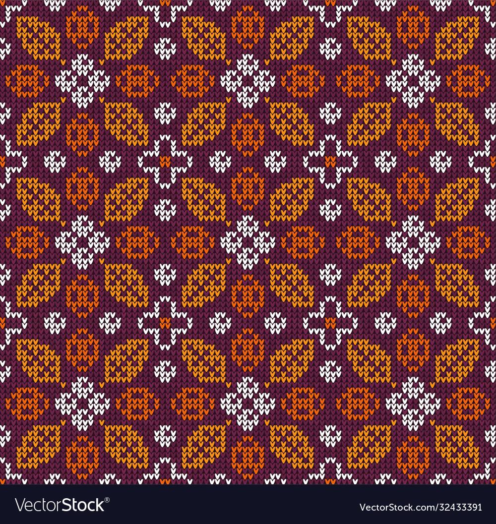 Scandinavian autumn thanksgiving knitted seamless