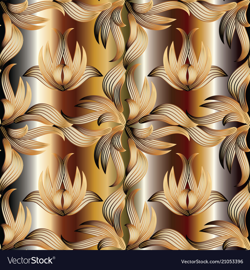 Abstract beautiful floral seamless pattern