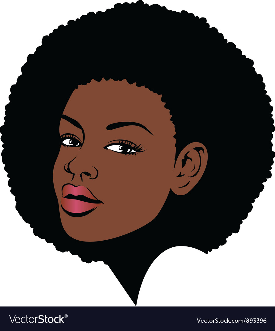 Afro hair pop art