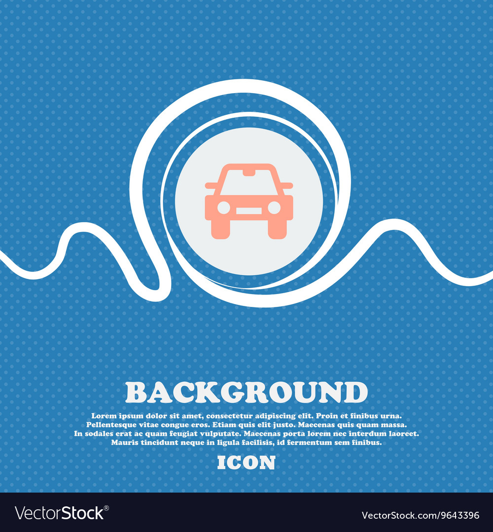 Auto sign icon Blue and white abstract background