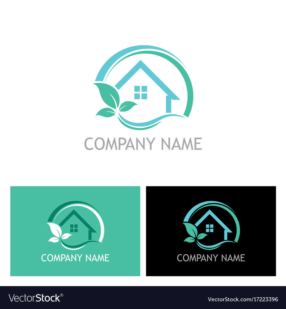 Eco house plant logo