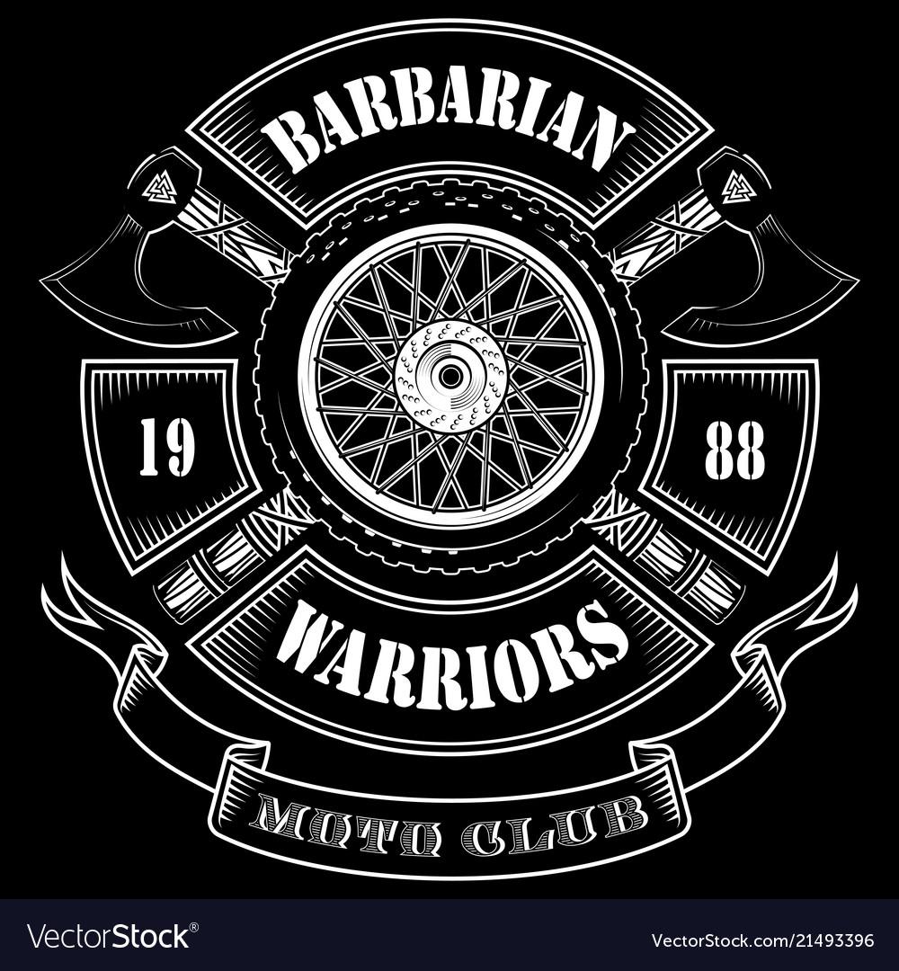 Emblem motorcycle club motorcycle wheel