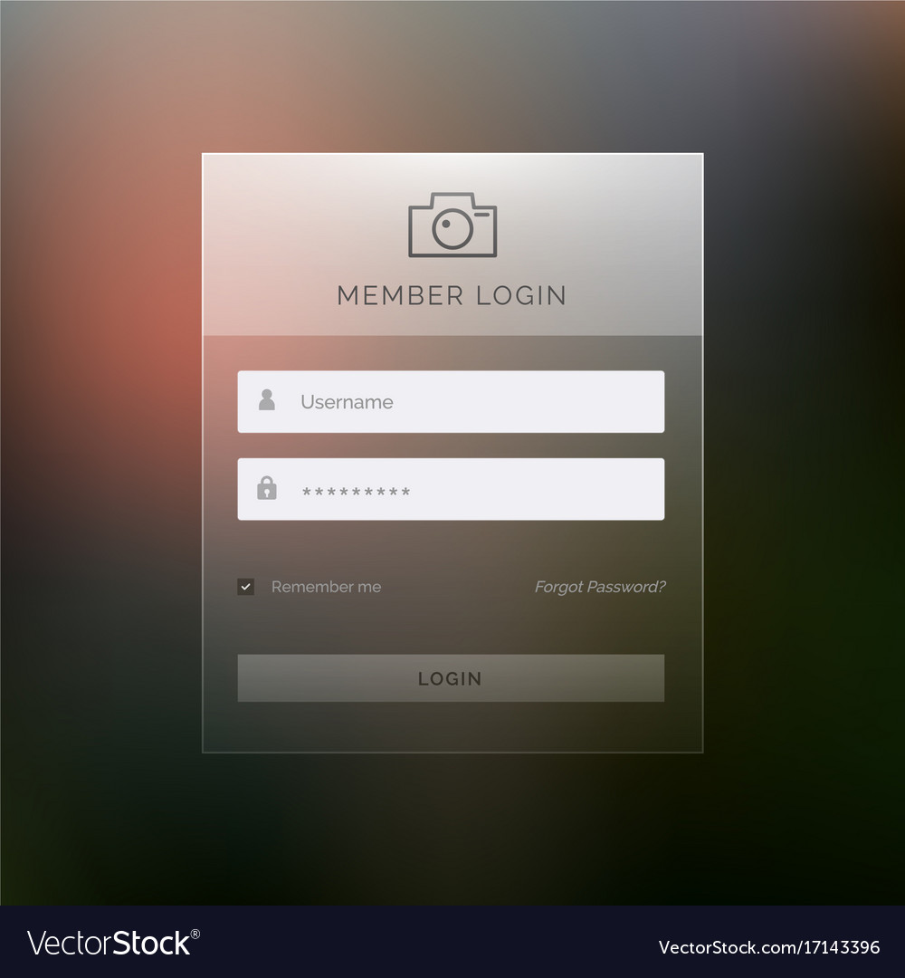 modern login template form ui design royalty free vector