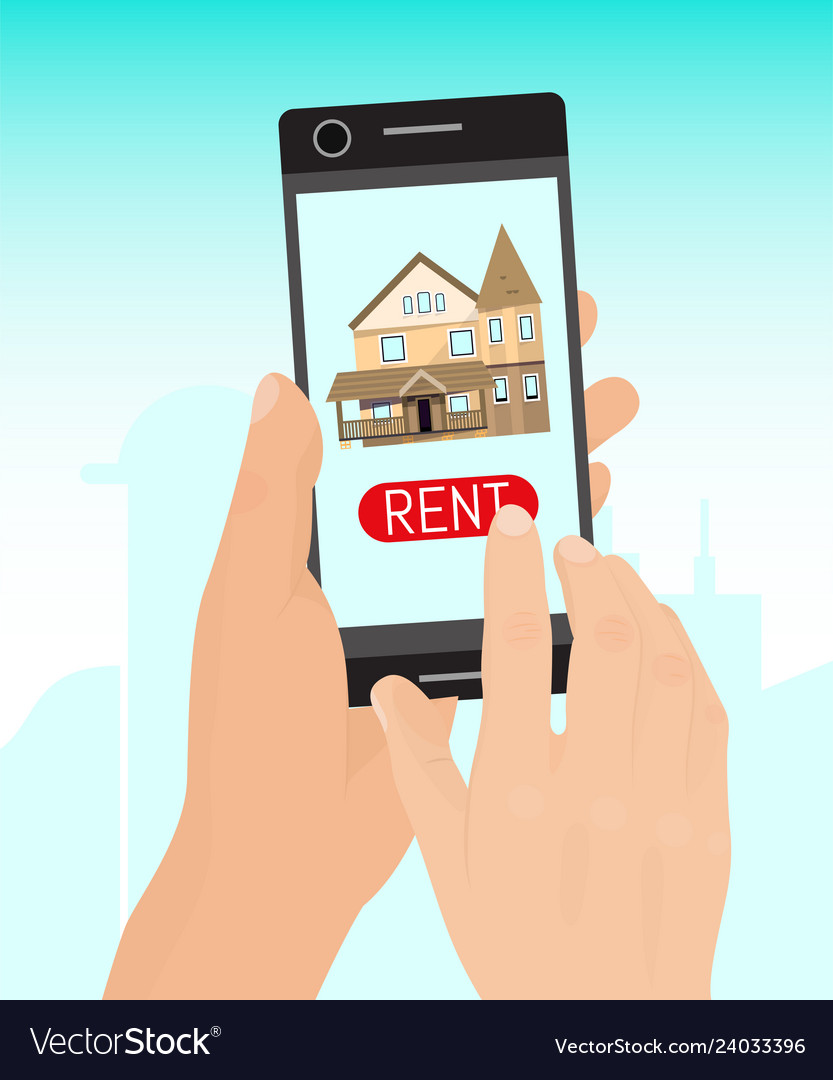 Rent home concept banner real
