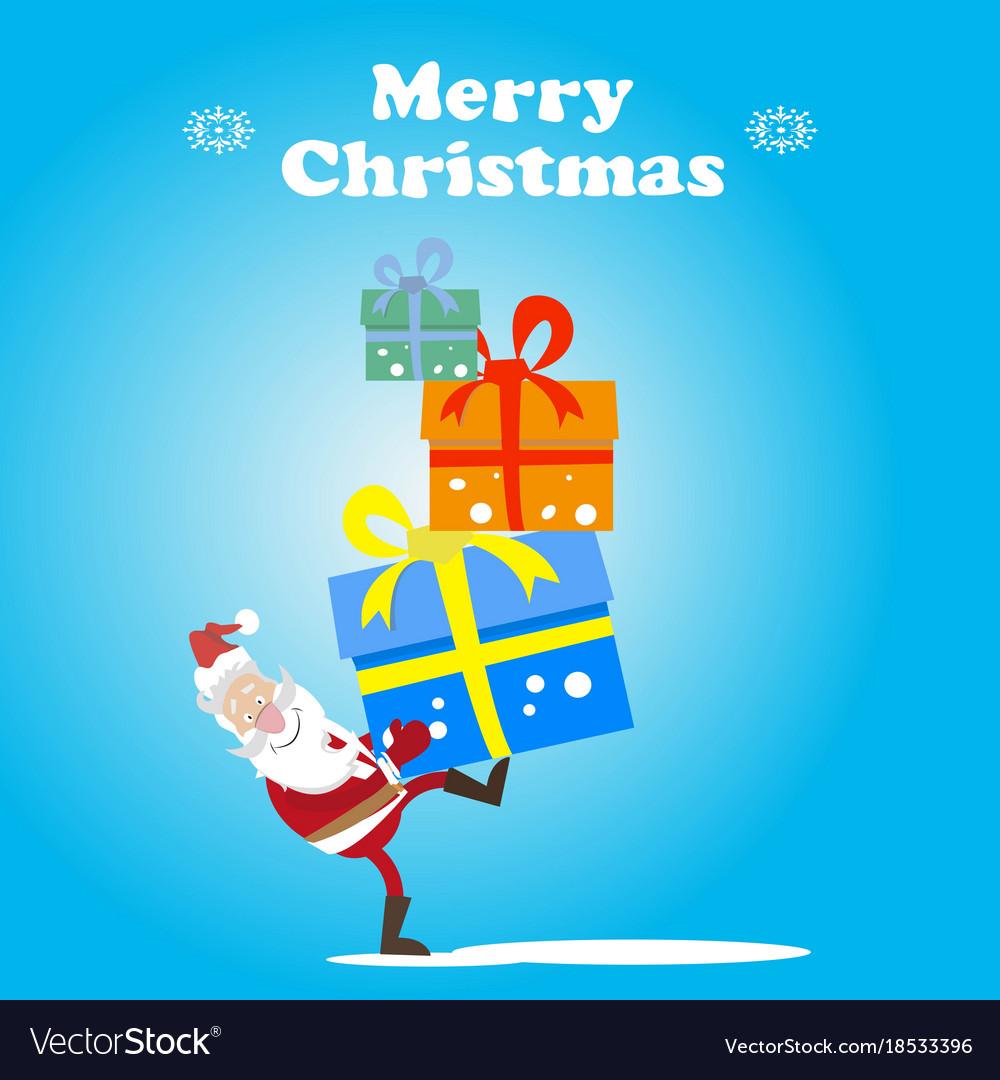 Santa bears gifts vector image