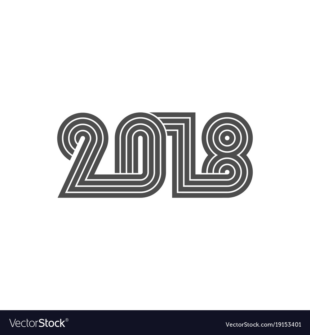 2018 new year card or poster template Royalty Free Vector