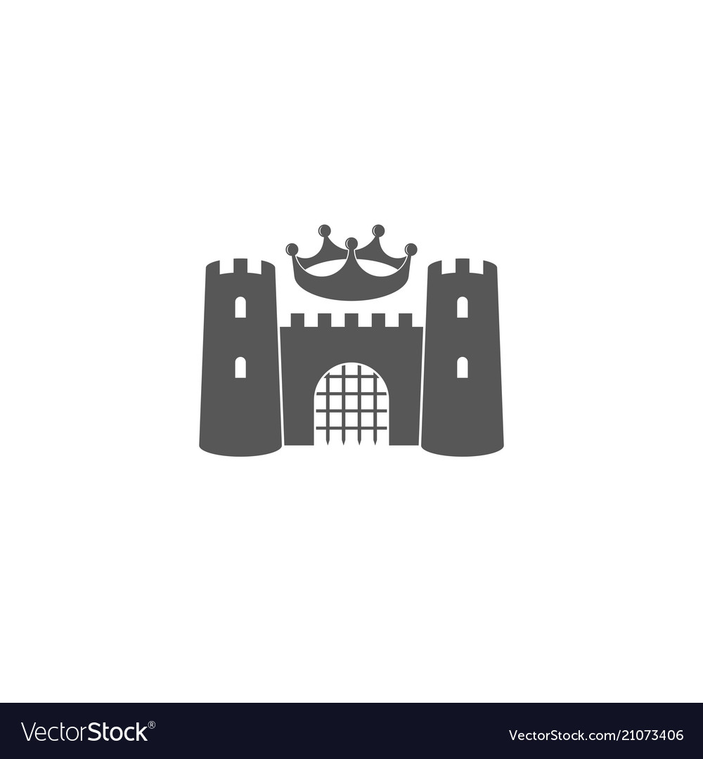 Castle with crown logo