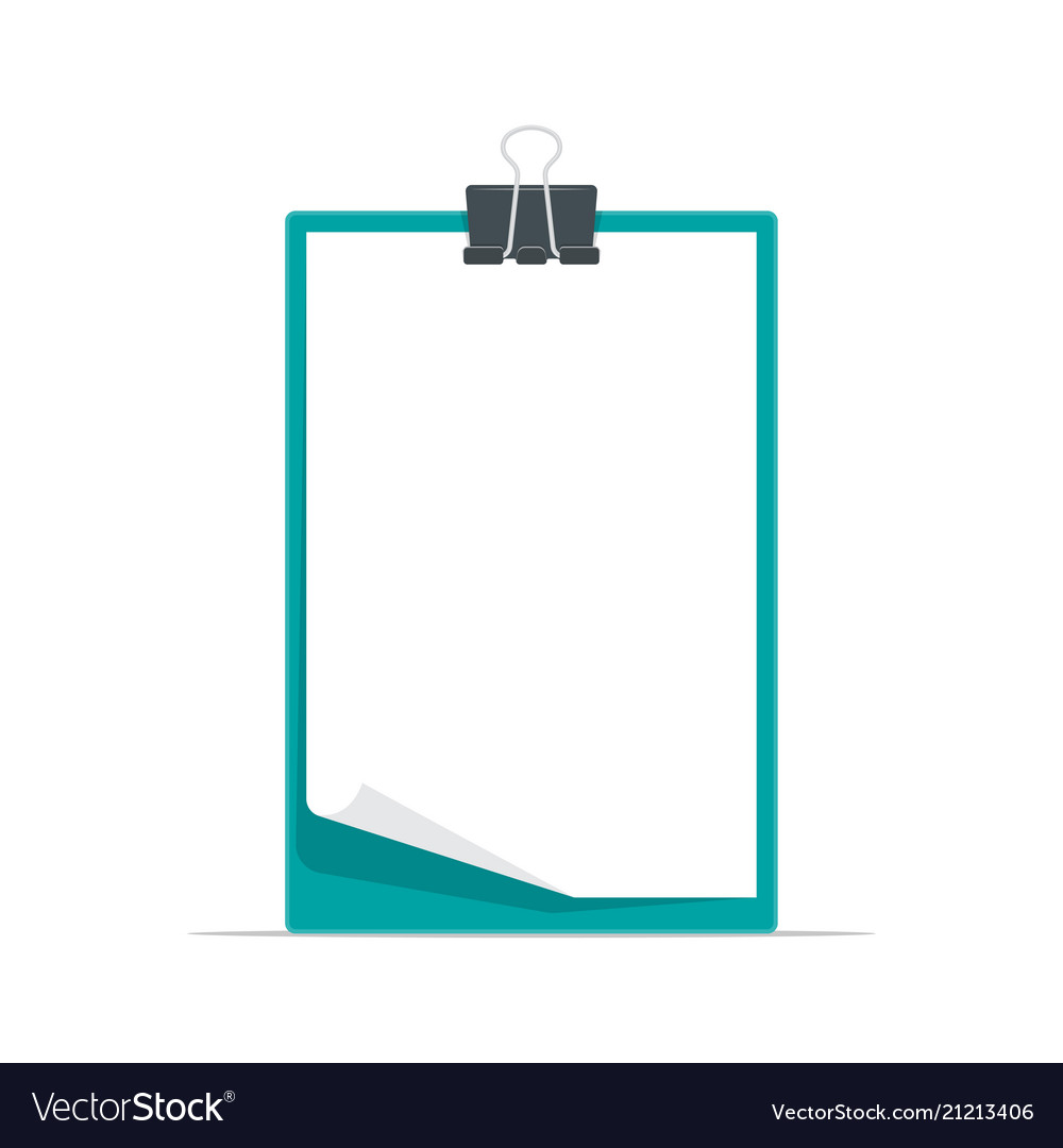Clipboard with blank a4 white paper