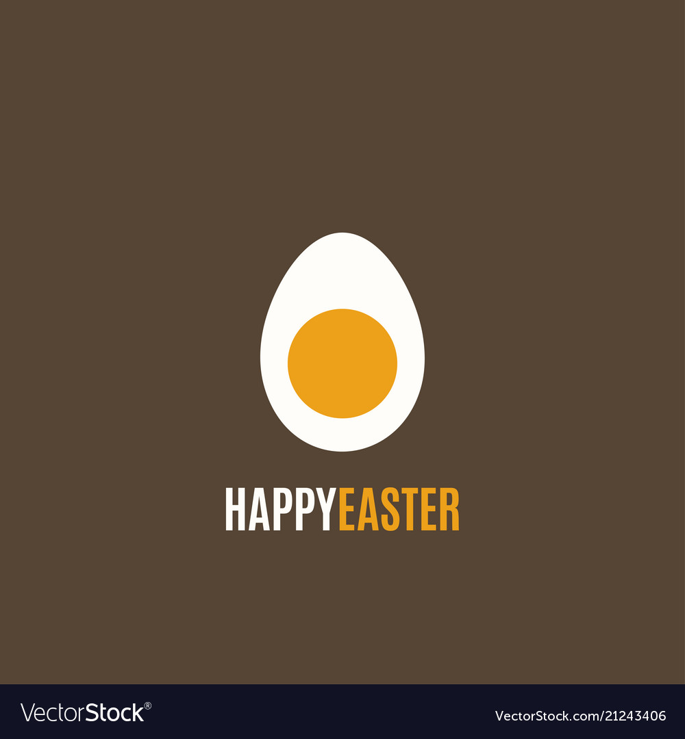 Easter egg simple design background