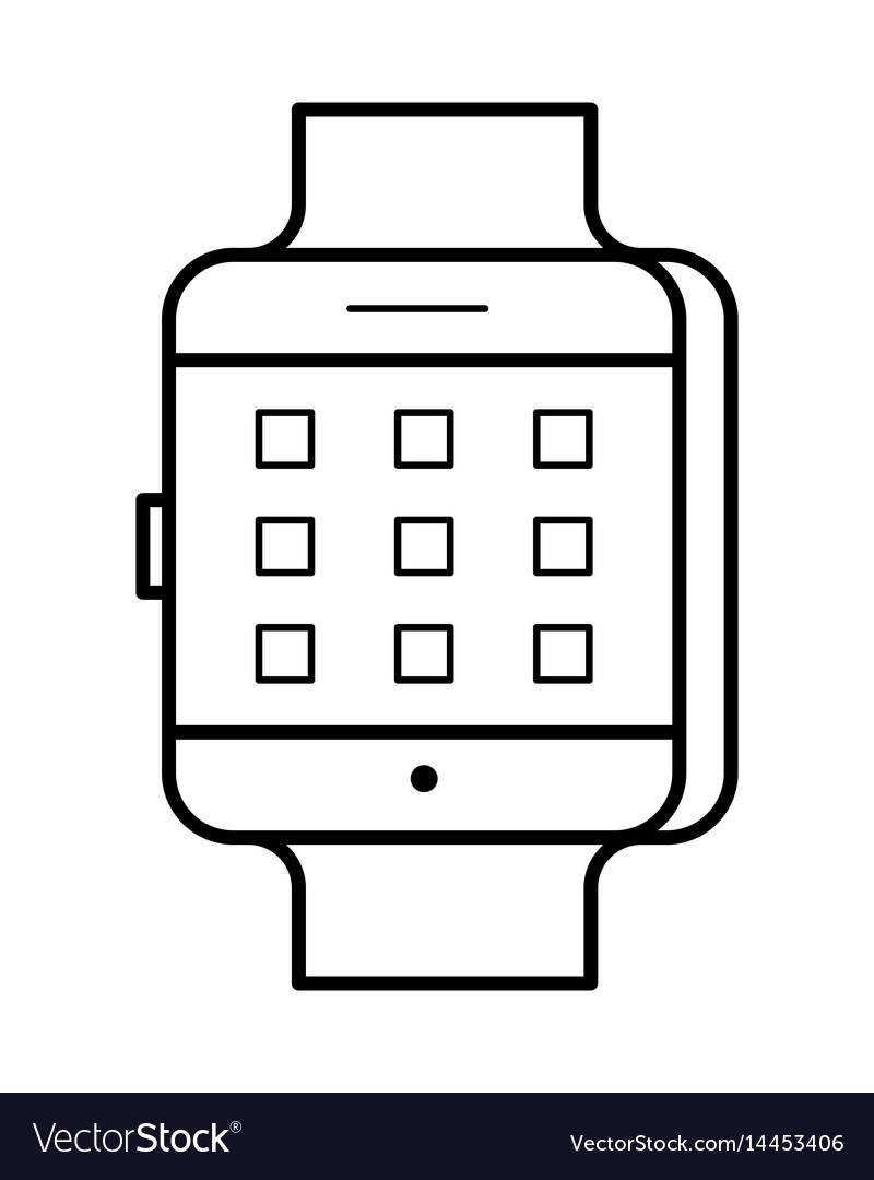 Smartwatch line art simple gadget icon