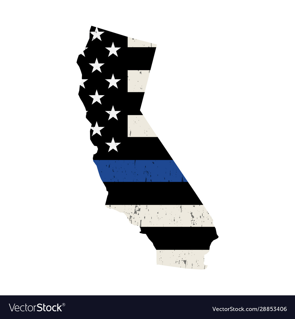 State california police support flag