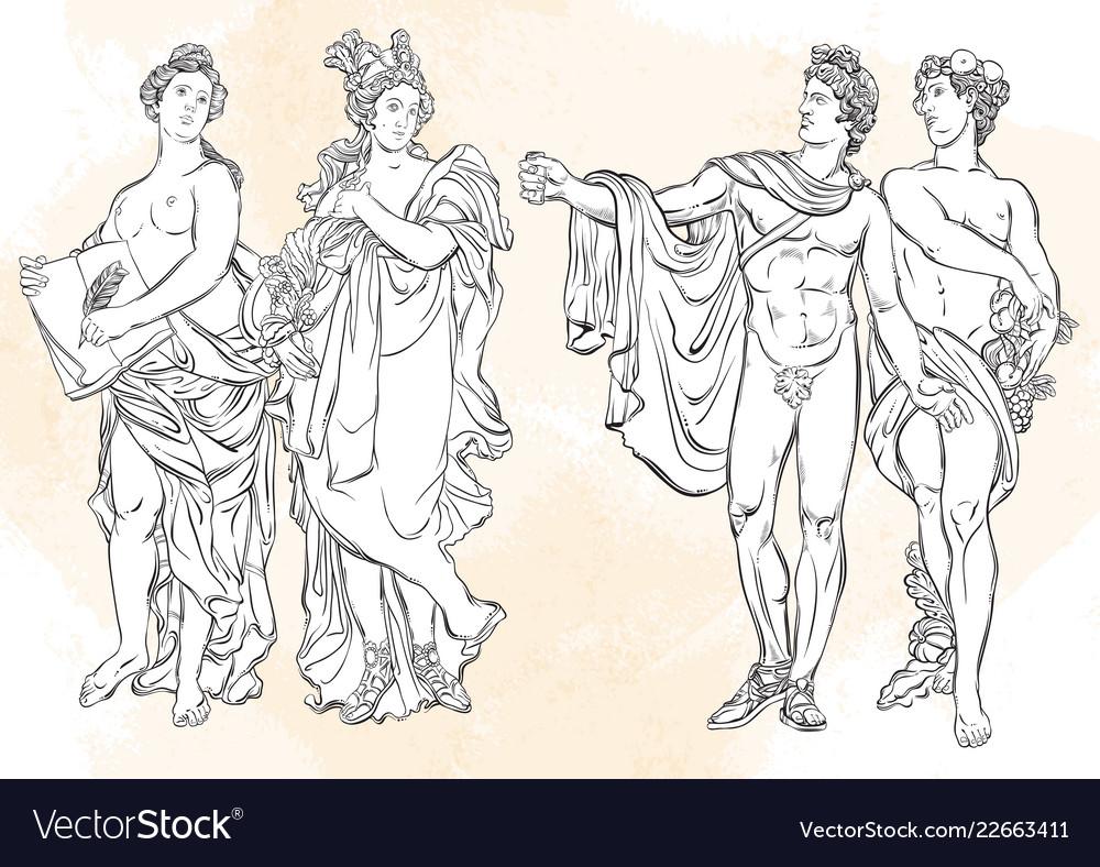 Beautiful greek gods the mythological characters