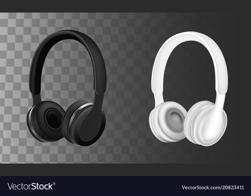 Black and white headphones
