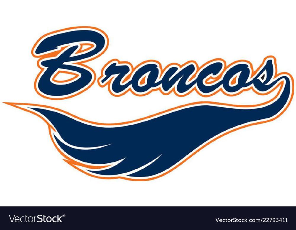 Broncos Logo Vector Image