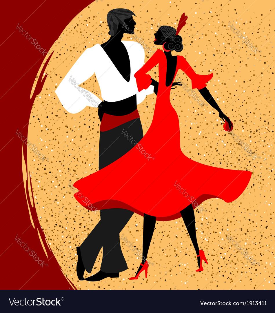 Couple of flamenco dancers