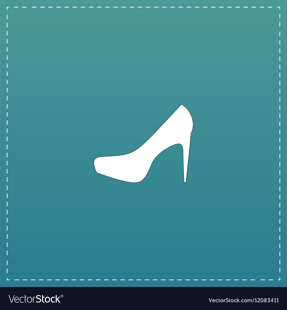Female shoes web icon design