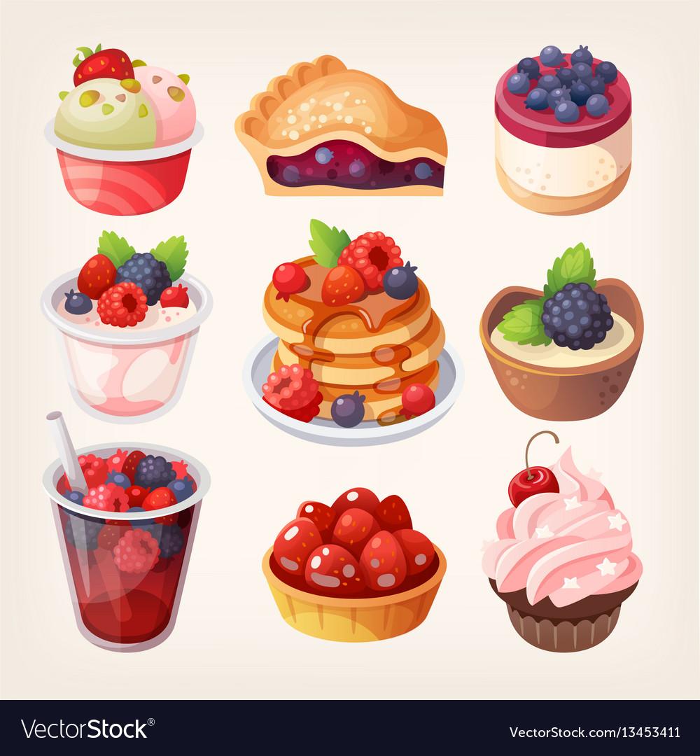 Forest fruit desserts