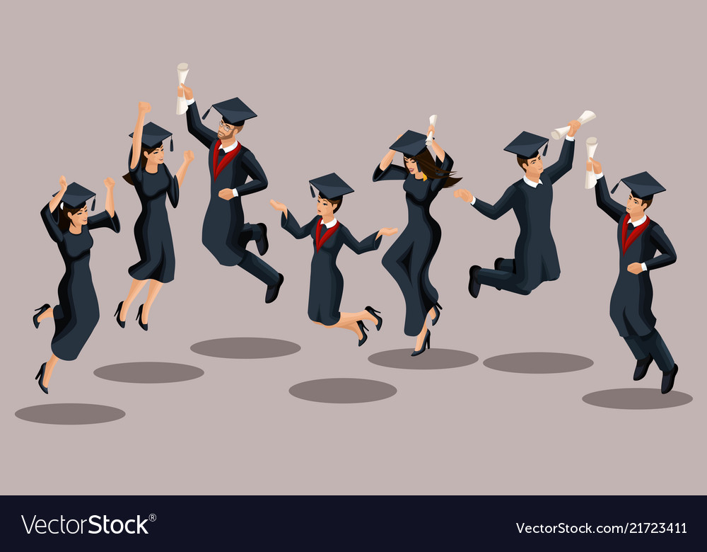 Isometrics graduates girls and boys jump