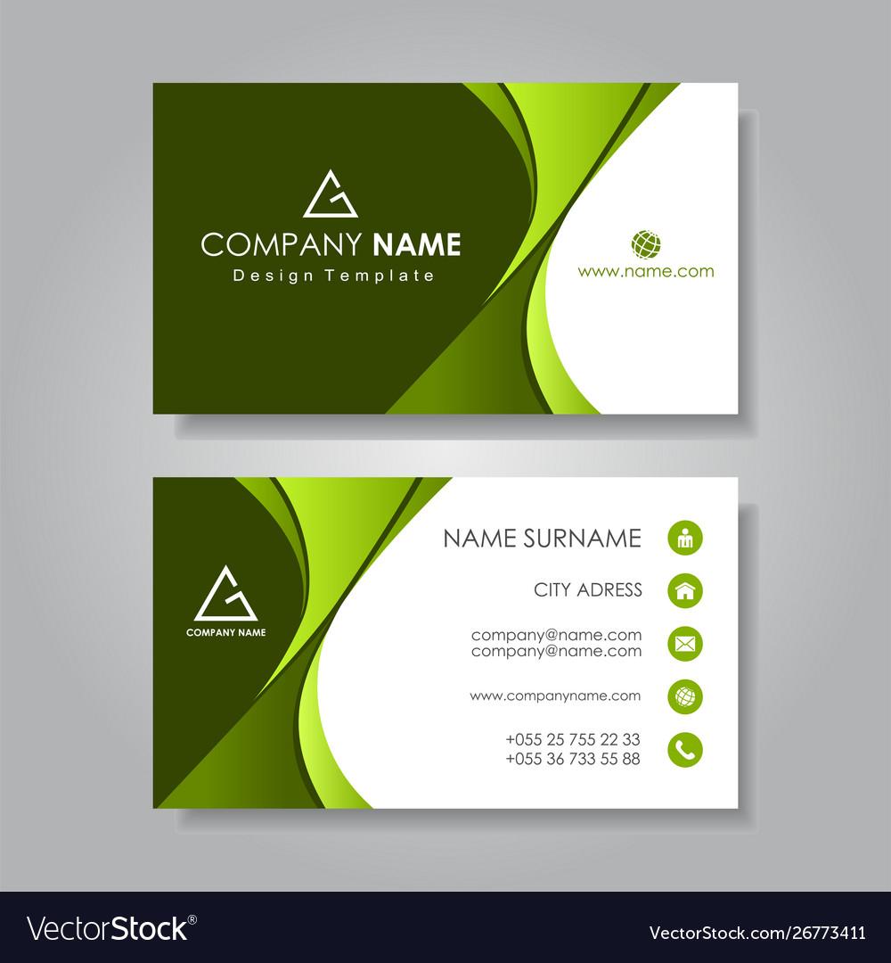 Modern business card template flat design