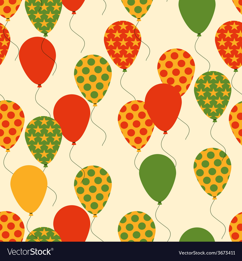 Seamless Pattern with Colorful Balloons Background