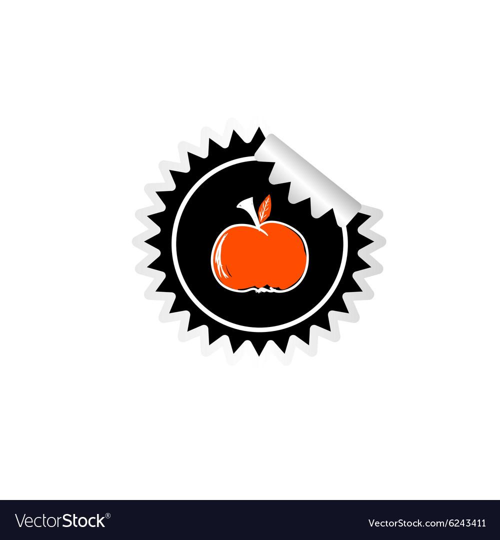 Sticker of apple color