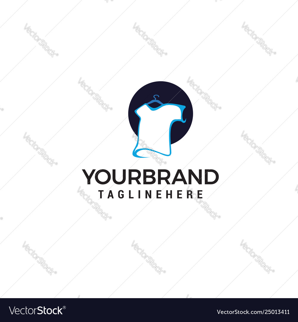 T-shirt logo and design concept template