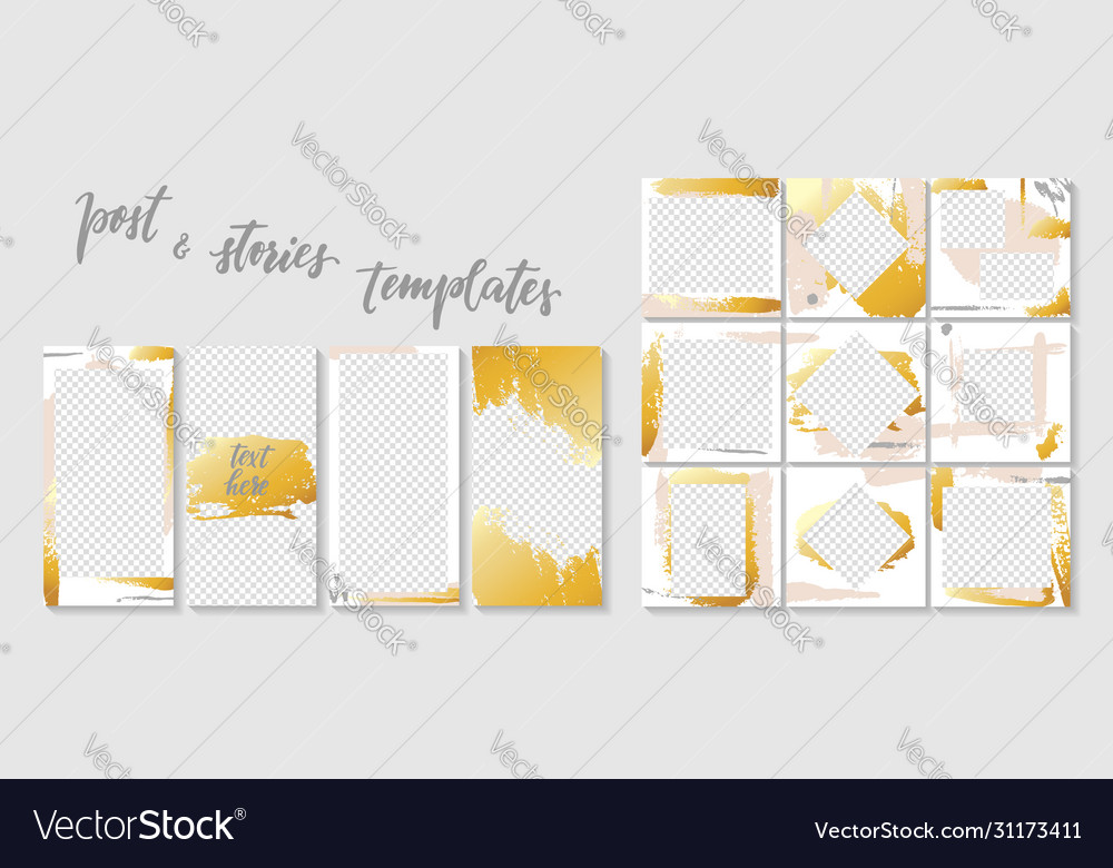Trendy template for social networks stories and