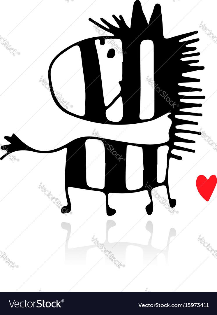 Zebra sketch for your design