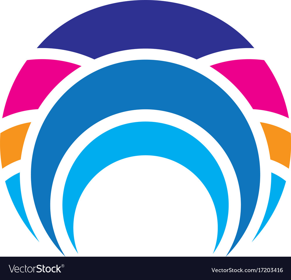 Abstract circle line business logo