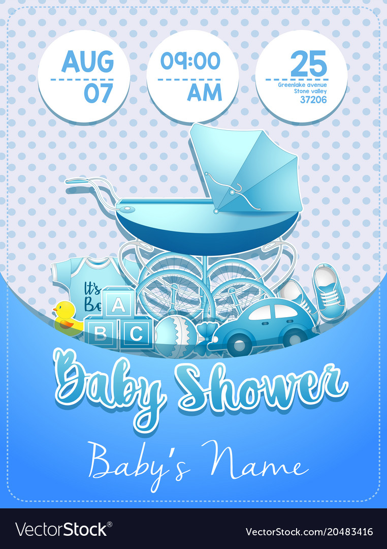 Baby Shower Boy Invitation Template