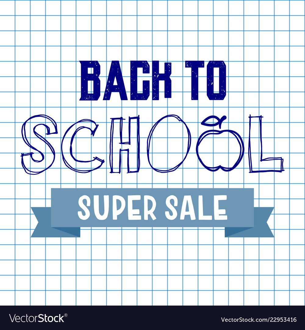 Back to school super sale background advertising