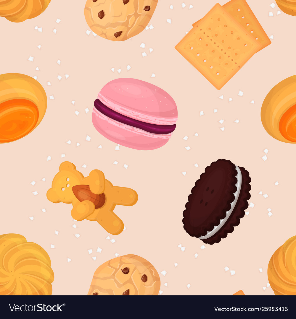 Cookie and biscuits baking pastry and baked