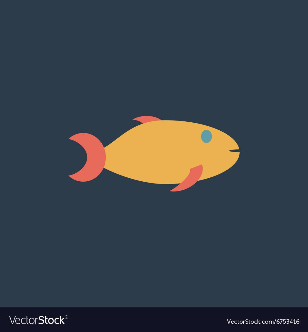 Fish icon on background